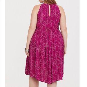f59d48a3e9c torrid Dresses - ✅ NWT •Torrid Size 0 BERRY DOT HI-LO CHALLIS DRESS